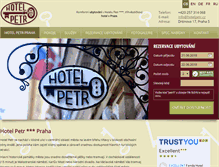 Tablet Preview of hotelpetr.cz